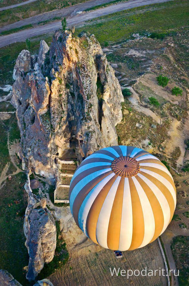 полет на воздушном шаре над горами